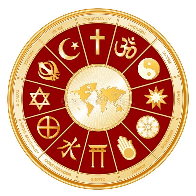 +EPS eine Welt des Glaubens mit Karte lizenzfreie abbildung