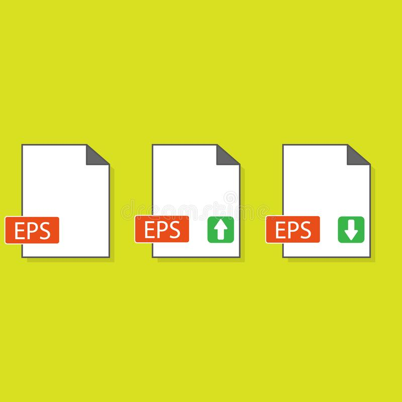 EPS file format icon,vector illustration. Flat design style. vector EPS file format icon illustration isolated on White background. EPS file format icon Eps10 stock illustration