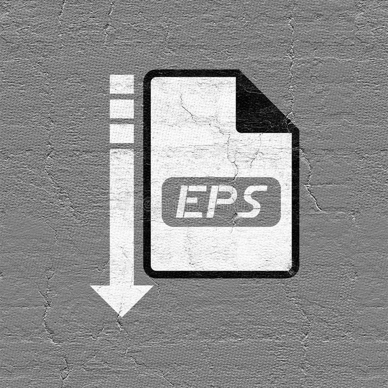 Eps file icon. Creative esign of eps file icon stock illustration