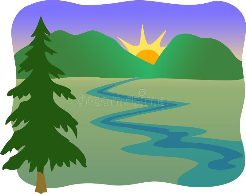 eps górski strumień royalty ilustracja