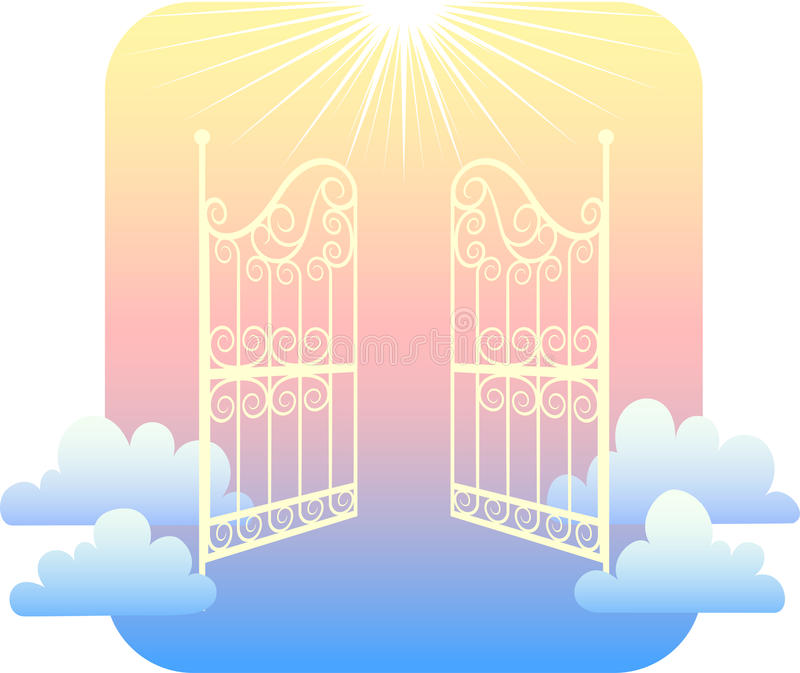eps gates himmel royaltyfri illustrationer