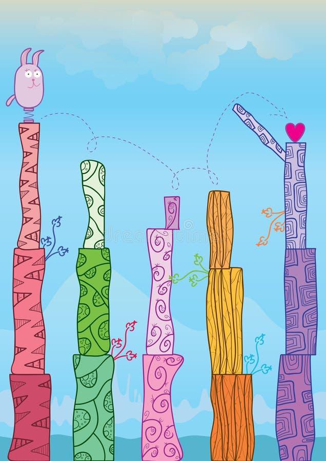 eps gra wadzący miłości szablon ilustracja wektor