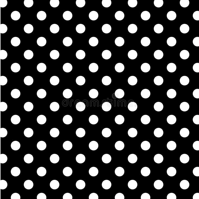 +EPS große weiße Polka-Punkte auf schwarzem BG vektor abbildung