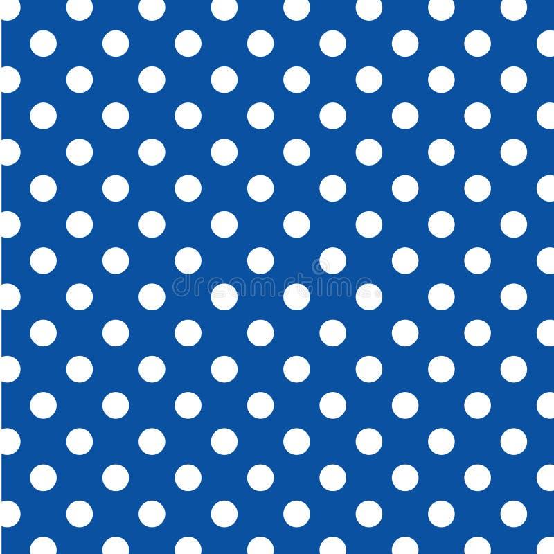 +EPS grote Witte Stippen op Blauwe Achtergrond royalty-vrije illustratie