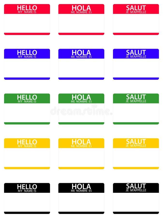 eps-hälsningar mitt namn vektor illustrationer