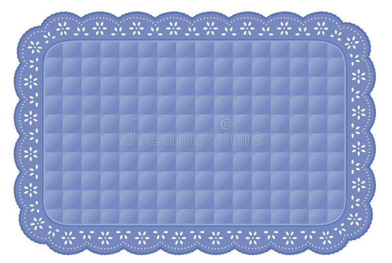 +EPS het blauwe Gewatteerde Onderleggertje van het Kant van het Oogje royalty-vrije illustratie