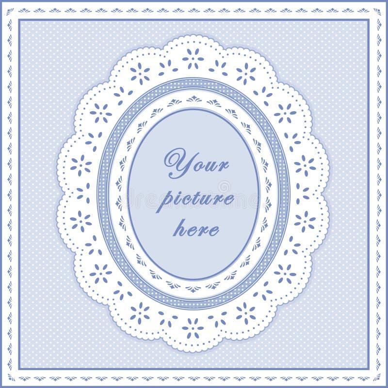 +EPS het Blauwe Ovale Frame van de baby, Naadloze Achtergrond stock illustratie