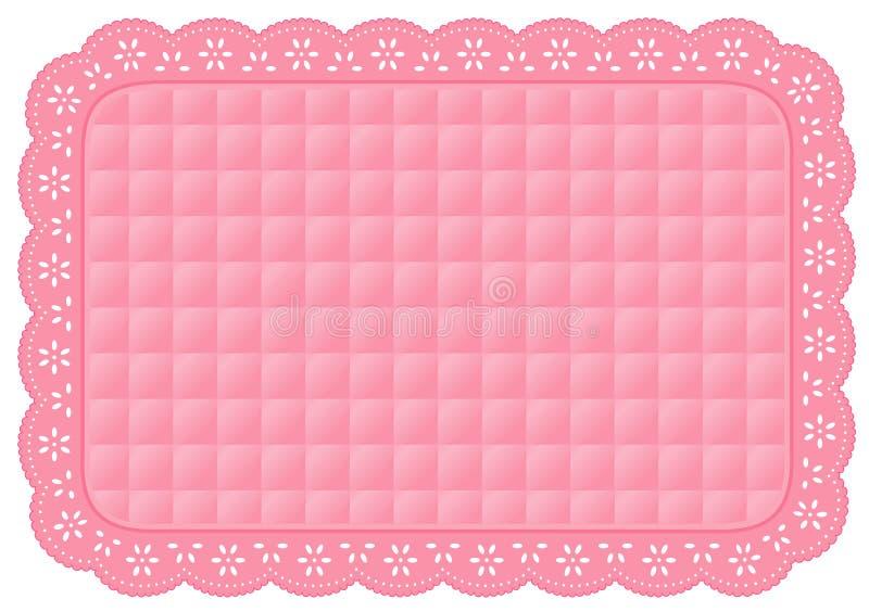 +EPS het roze Gewatteerde Onderleggertje van het Kant van het Oogje stock illustratie