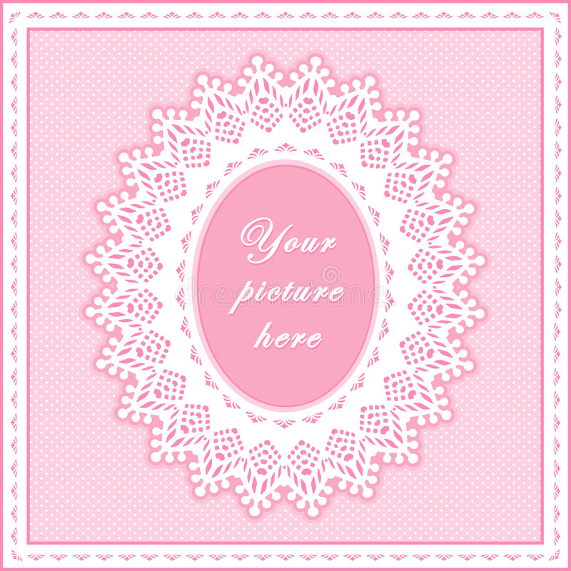 +EPS het roze Ovale Frame van het Oogje, Naadloze Achtergrond vector illustratie
