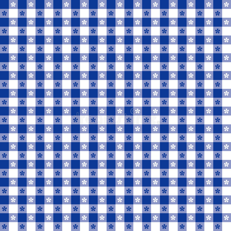 EPS+JPG, Blauw Tafelkleed stock illustratie