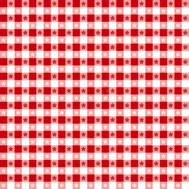EPS+JPG, Tablecloth vermelho ilustração stock