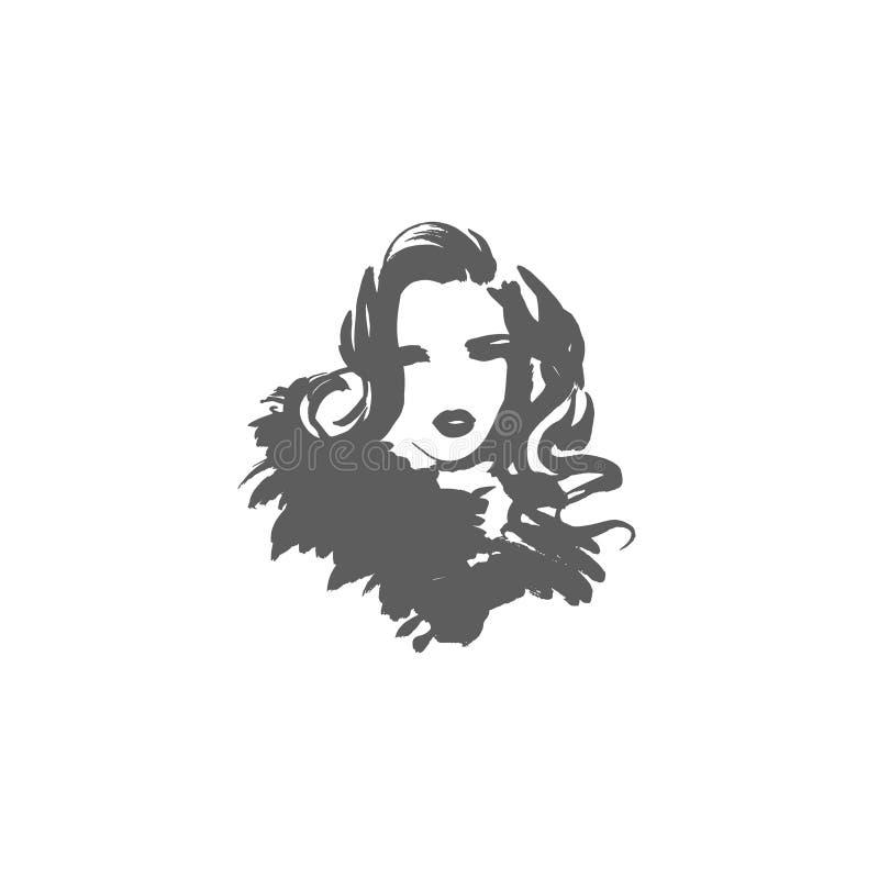 eps kartoteki dziewczyna zawierać wektor pani elegancka modne kobiety Modny projekt w nakreślenie stylu, ręka rysująca dziewczyna ilustracja wektor