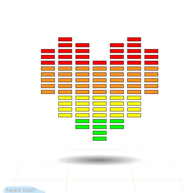 8 eps kartoteki kierowa ikona zawierać Eq, wyrównywacza szalkowy serce czerwone róże miłości tła symbolu white Walentynka dnia zn royalty ilustracja