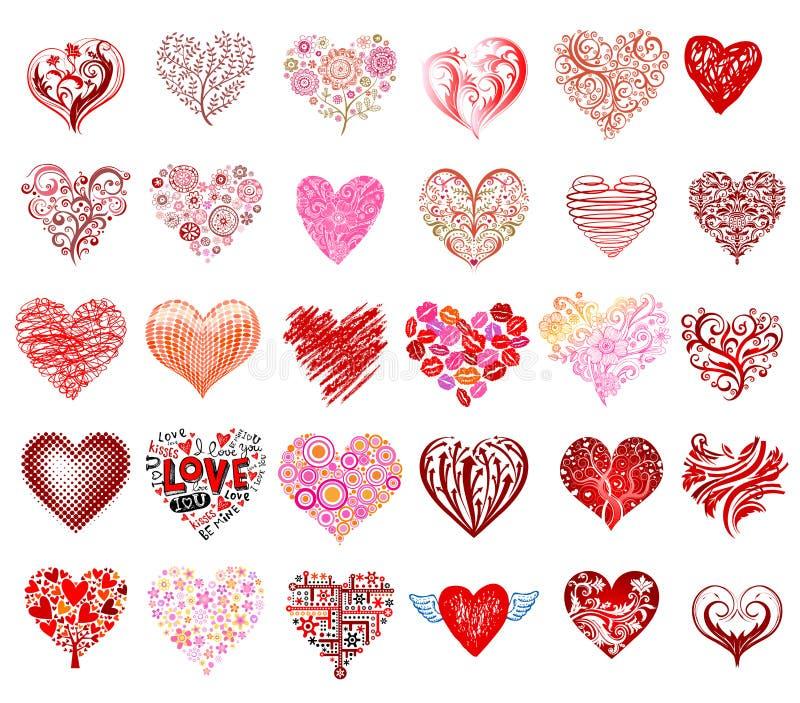 eps kartoteki serca zawierać wektor ilustracja wektor