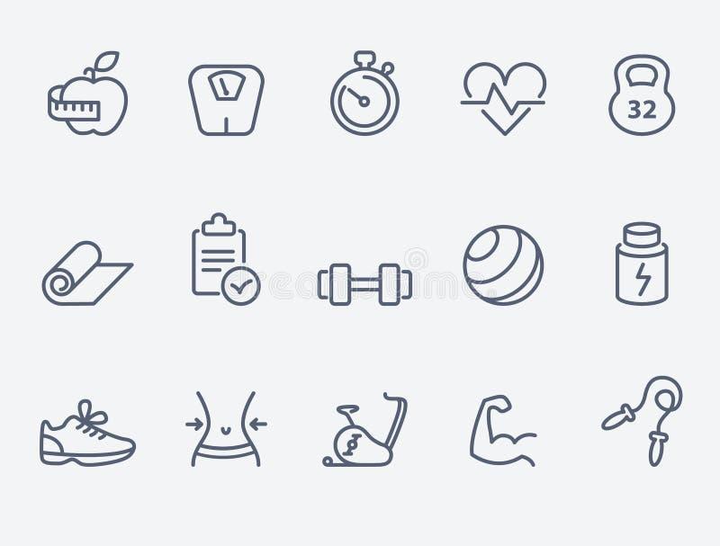 10 eps kartoteki sprawności fizycznej ikon przezroczystość ilustracja wektor