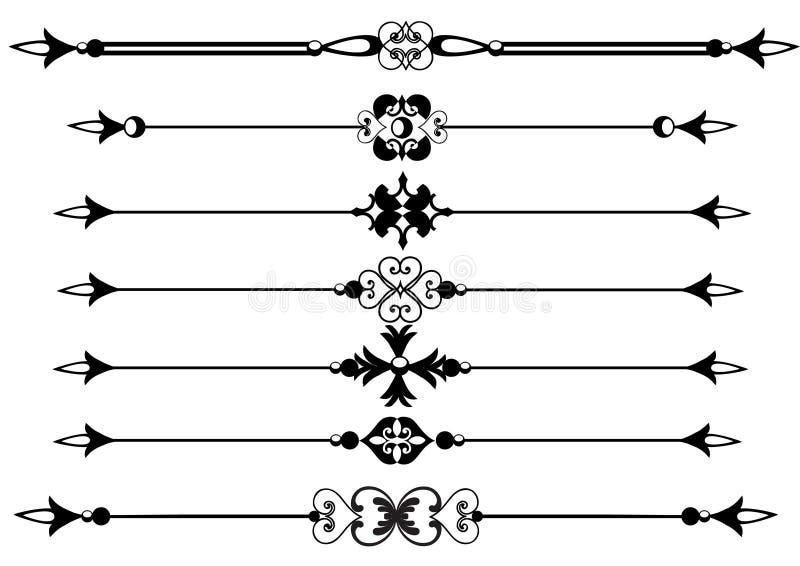 eps linie reguły ślimacznic wektor royalty ilustracja
