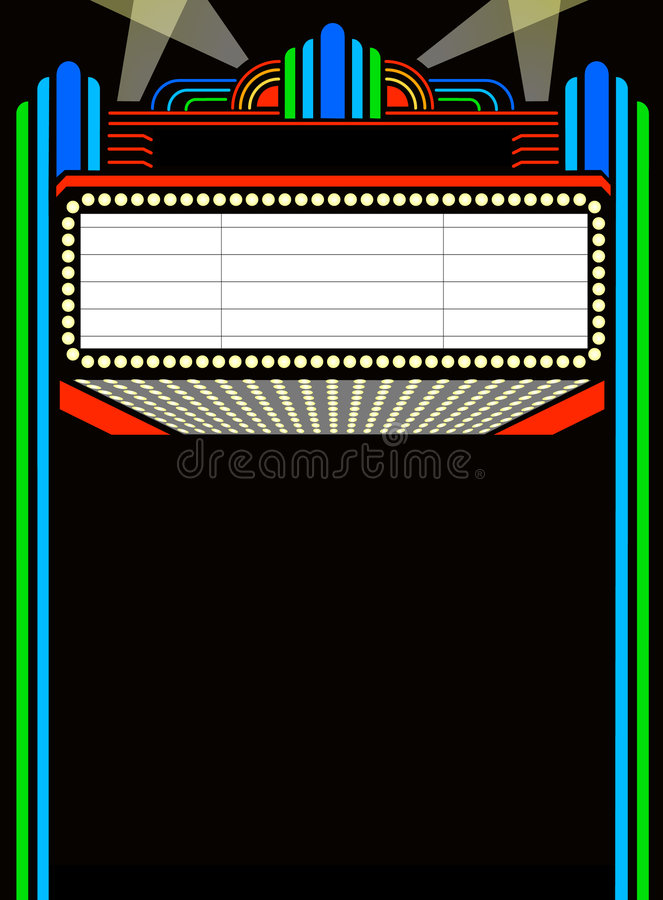 eps marquee movie play διανυσματική απεικόνιση