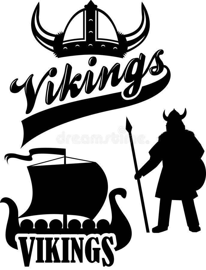 eps-maskotlag viking stock illustrationer