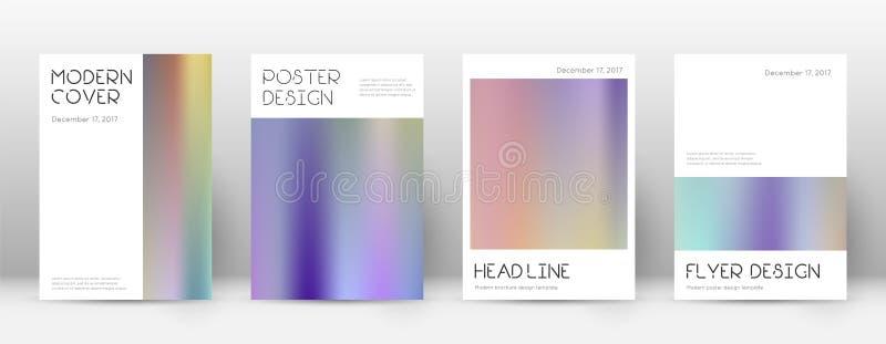 EPS 10 Minsta vibrerande mall för Brochur stock illustrationer