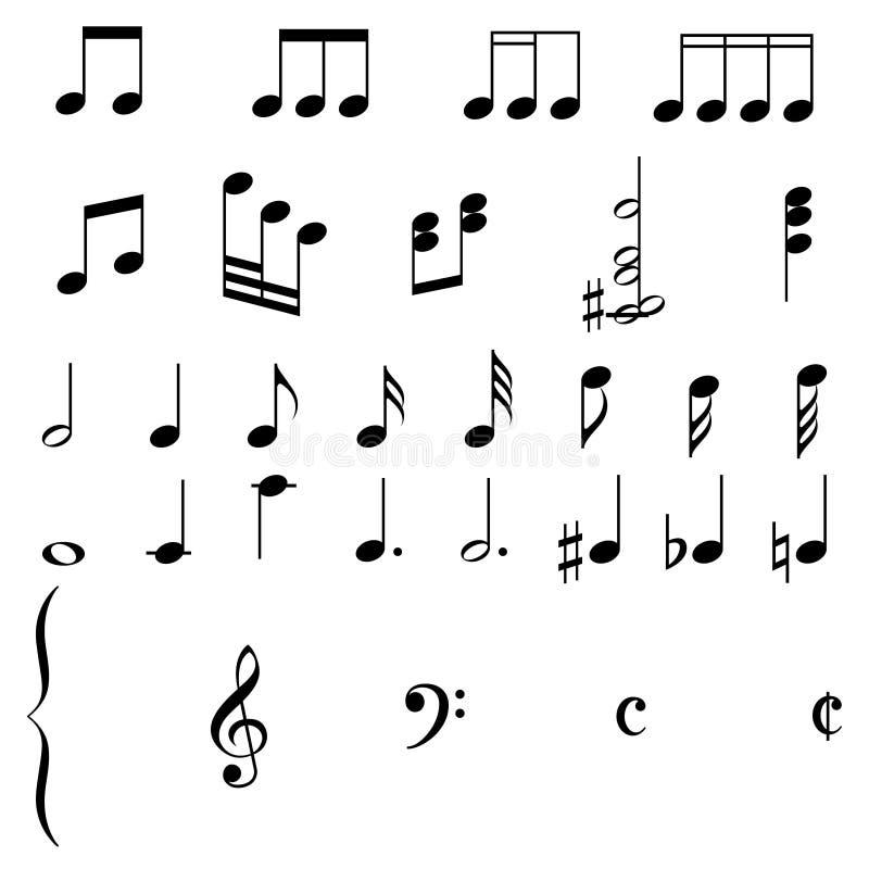 eps-musikanmärkningar royaltyfri illustrationer