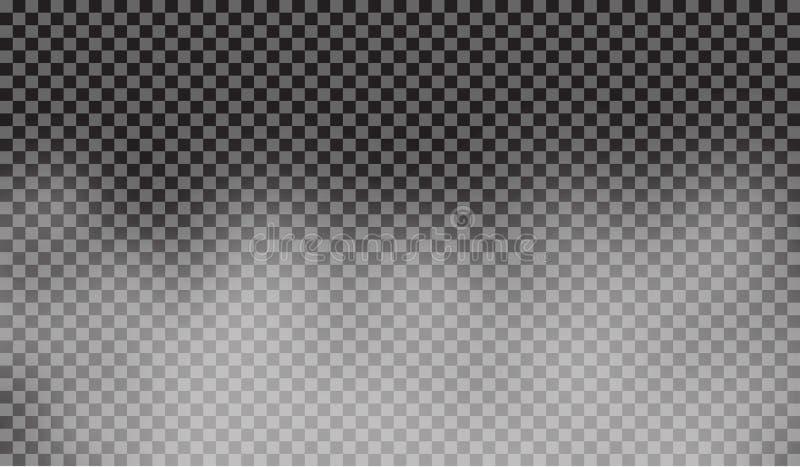 Eps 10 Névoa ou efeito especial transparente isolado fumo Fundo branco da opacidade, da névoa ou da poluição atmosférica Ilustraç ilustração royalty free