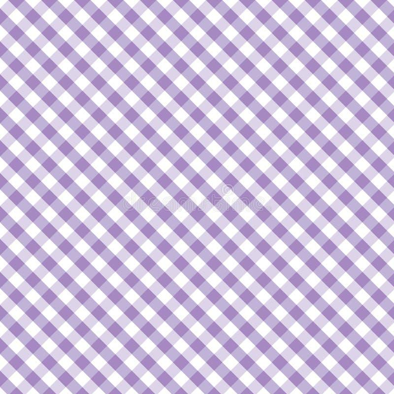 +EPS Naadloze Lavendel van het Weefsel van de Gingang van de pastelkleur de Dwars, royalty-vrije illustratie
