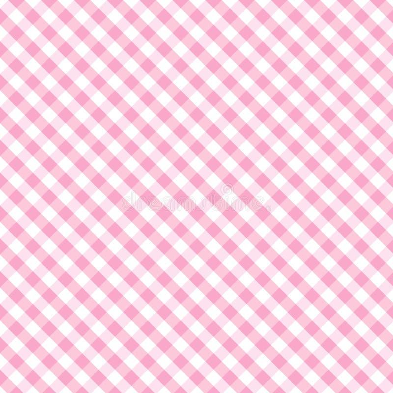+EPS Naadloze Roze van de Baby van het Weefsel van de Gingang van de pastelkleur het Dwars vector illustratie