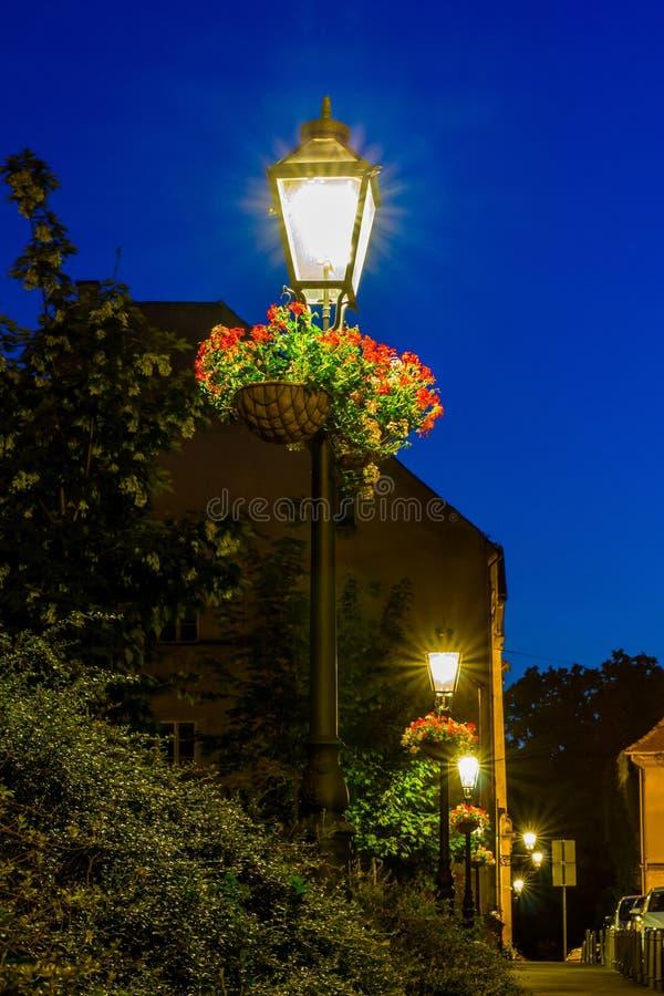 8 eps odosobnionych lamp uliczny biel obraz royalty free