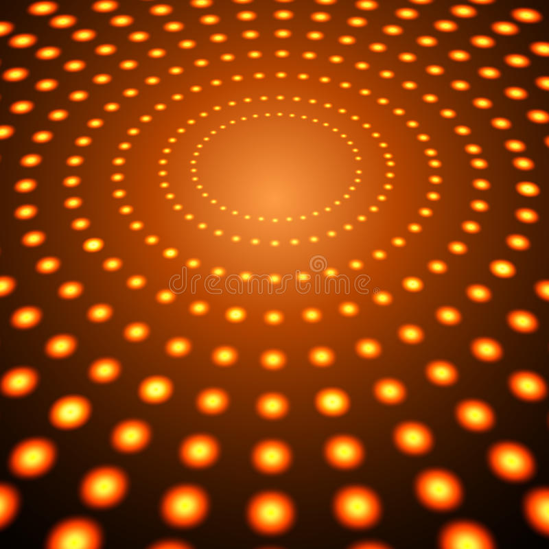 EPS10 perspektiv röda Dots Abstract Vector Background stock illustrationer