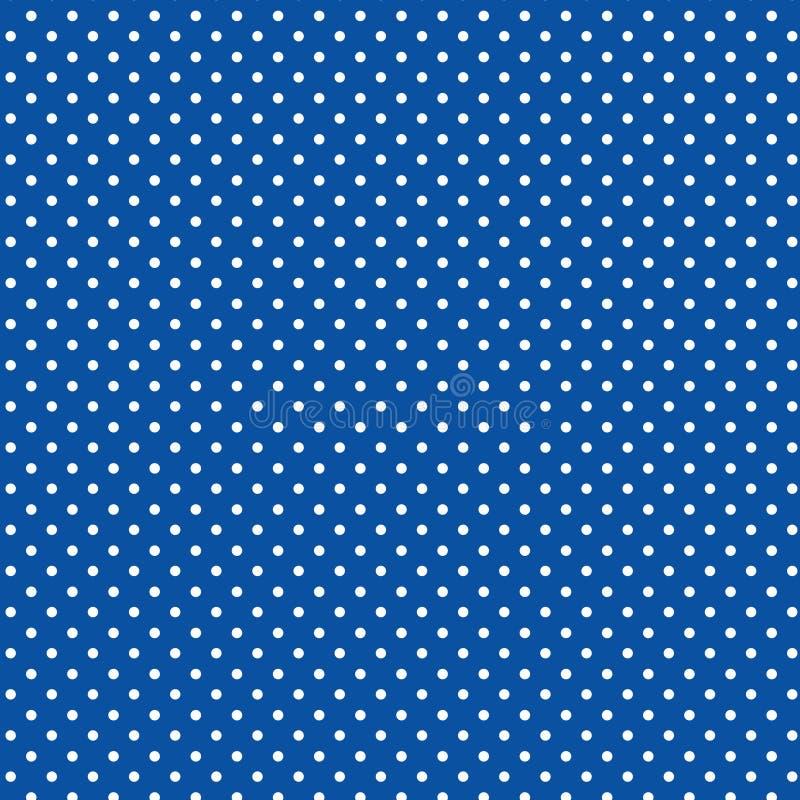 +EPS Polkadots, blauer Hintergrund lizenzfreie abbildung
