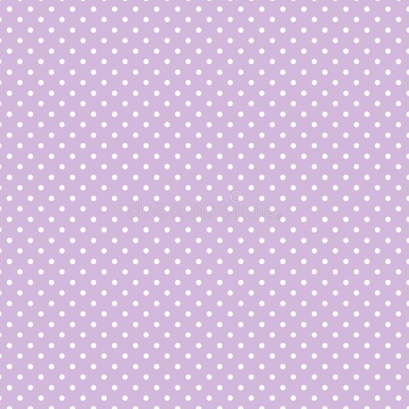 +EPS Polkadots, de Achtergrond van de Lavendel vector illustratie