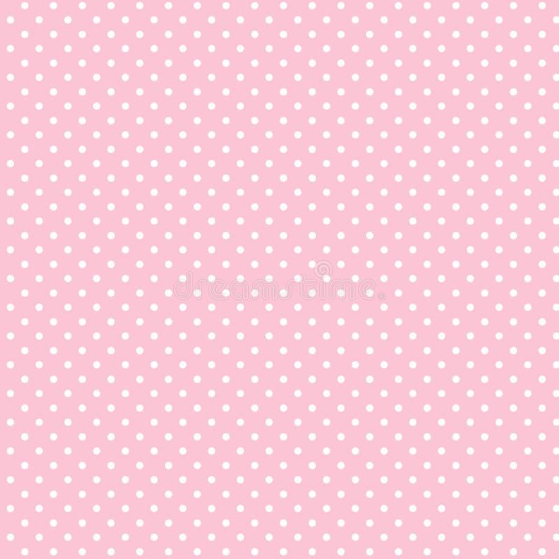 +EPS Polkadots, de Roze Achtergrond van de Baby vector illustratie
