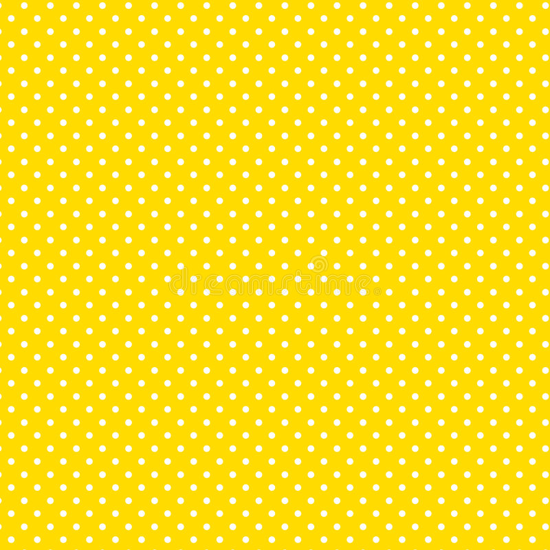 +EPS Polkadots, fond jaune illustration libre de droits