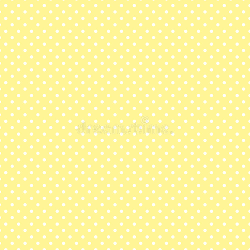 +EPS Polkadots, fond jaune pâle illustration libre de droits