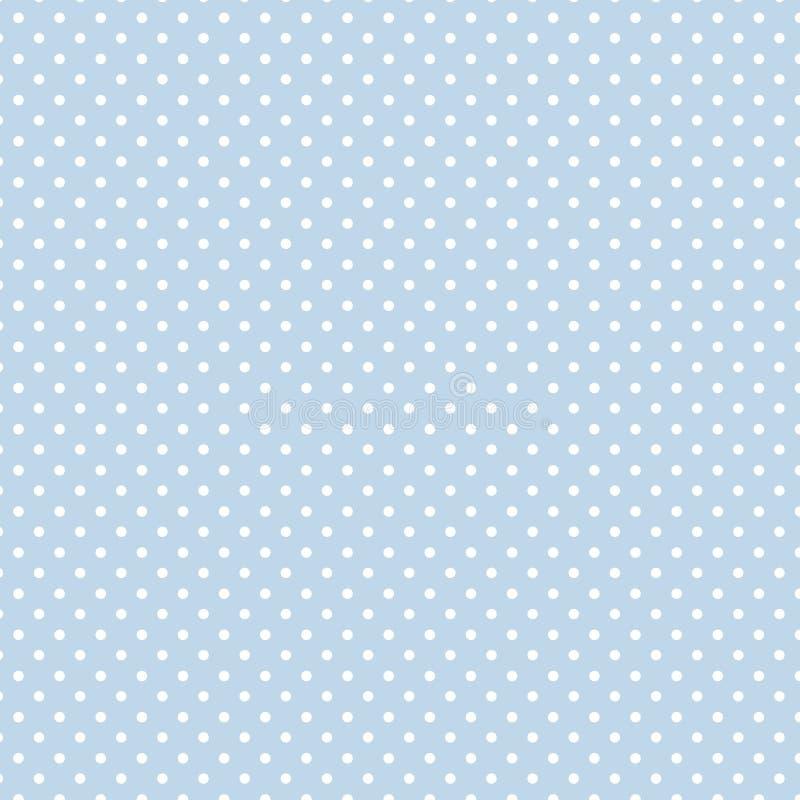 +EPS Polkadots, fondo del azul de bebé stock de ilustración