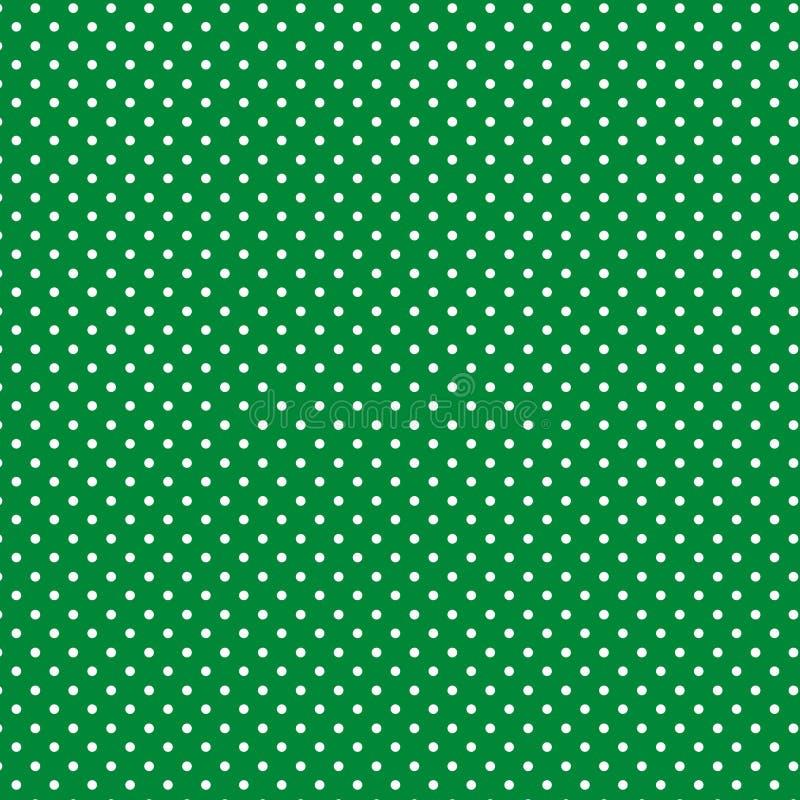 +EPS Polkadots, Groene Achtergrond stock illustratie