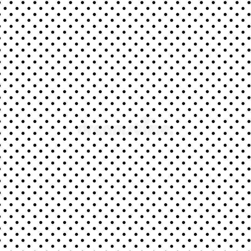 +EPS Polkadots, negro en el fondo blanco libre illustration
