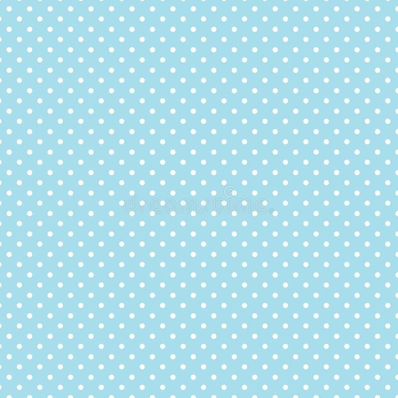+EPS Polkadots, priorità bassa dell'azzurro del Aqua illustrazione di stock