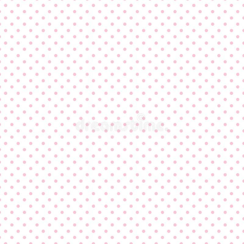 +EPS Polkadots, rosado en el fondo blanco stock de ilustración