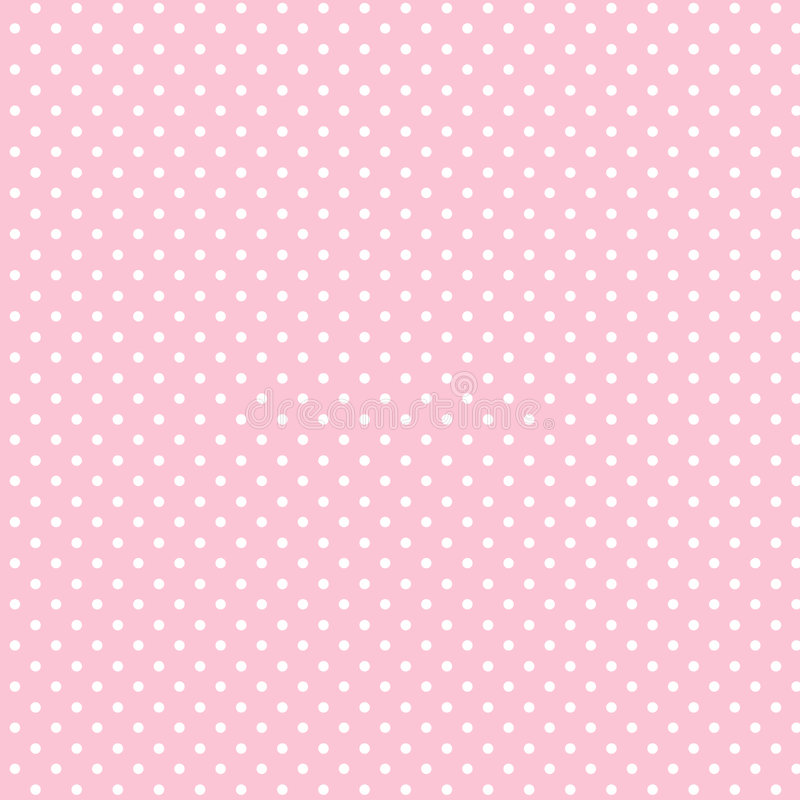 +EPS Polkadots, Schätzchen-Rosa-Hintergrund vektor abbildung