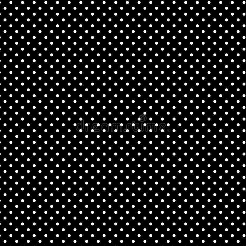 +EPS Polkadots, Zwarte Achtergrond vector illustratie
