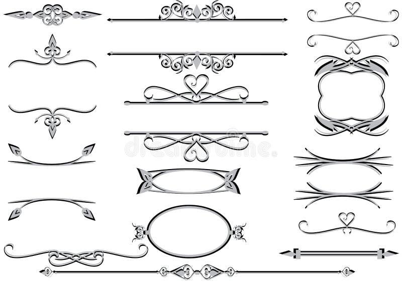 eps ram rulelines wektorowy wiktoriański ilustracji