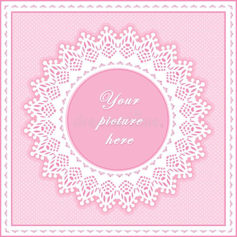 +EPS roze Oogje om Frame, Naadloze Achtergrond vector illustratie