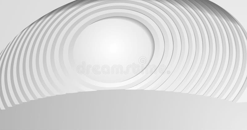 EPS10 Sfondo architettura astratta 3d illustrazione di un edificio bianco Sfondo geometrico moderno Tecnologia futuristica royalty illustrazione gratis
