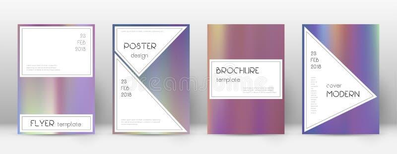 EPS 10 Stilfull älskvärd mall för broschyr vektor illustrationer