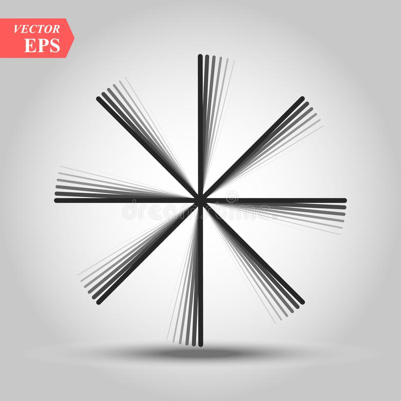 Лучи eps10 винтажных Sunburst фейерверков элемента дизайна взрыва Handdrawn черные иллюстрация вектора