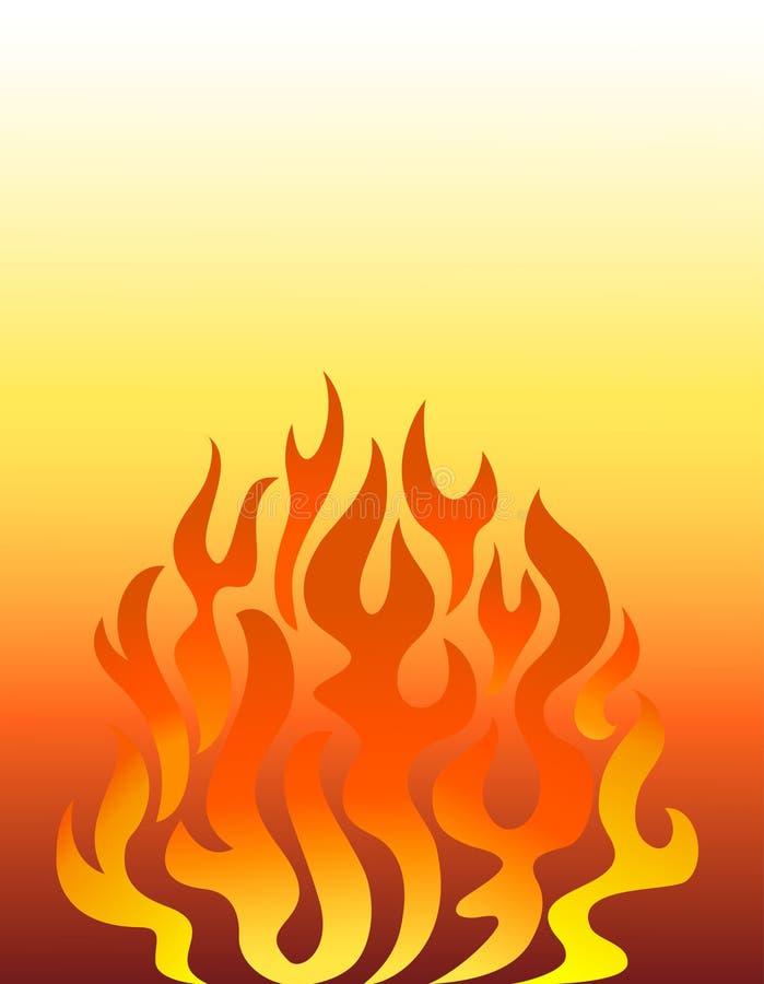 eps tła płomienia pomarańcze ilustracji