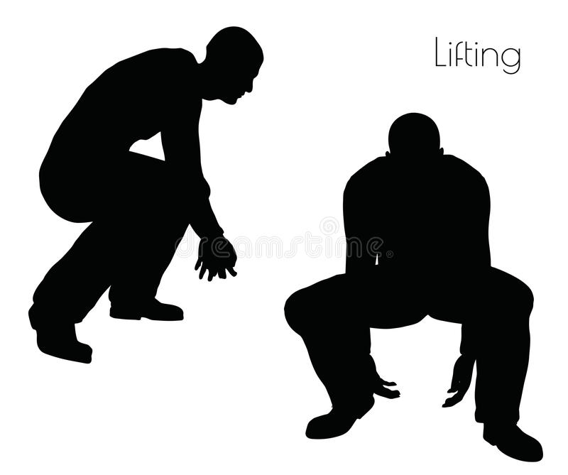 EPS 10 vector illustration of man in Lifting Action pose on white background. Illustration - EPS 10 vector illustration of man in Lifting Action pose on white vector illustration