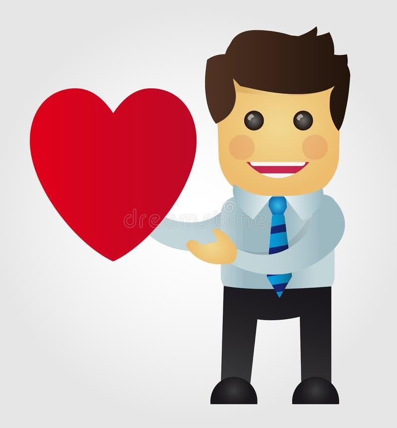 Geschäftsmann in der Liebe vektor abbildung
