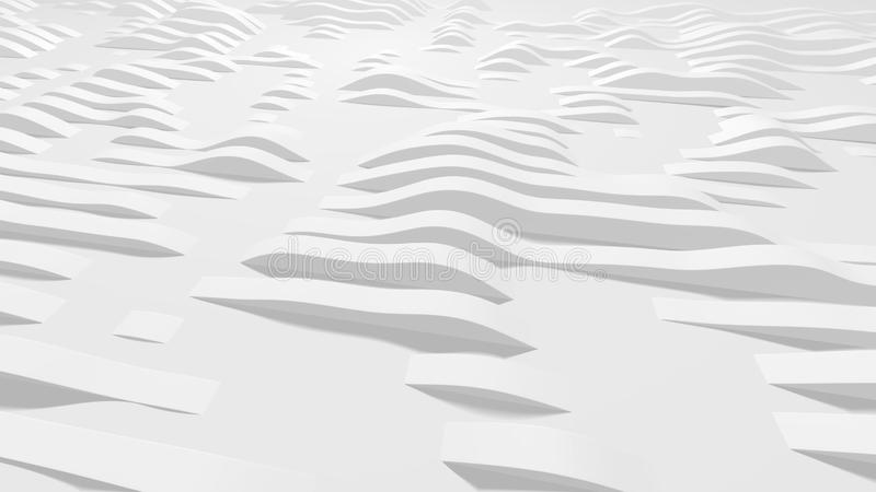Eps10. White wavy lines on the surface, vector illustration. Background for your design royalty free stock photos